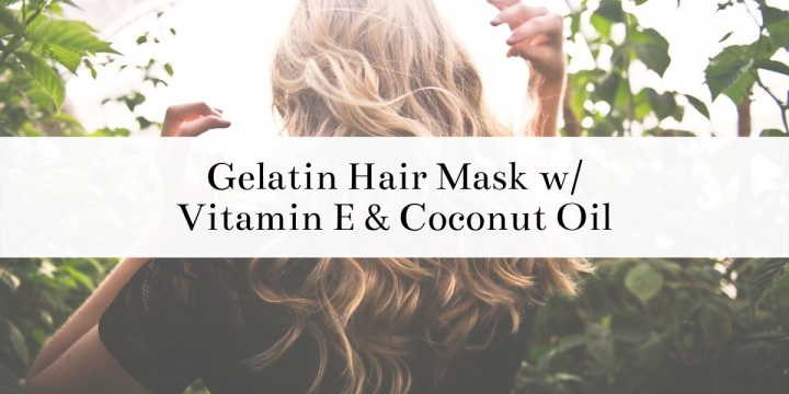 Find out how to make this DIY gelatin hair mask. This hair mask always leaves my hair feeling so healthy and soft. It also reduces frizz and helps repair damaged hair. This hair mask has coconut oil and Vitamin E oil to give your hair some extra love and nourishment. #DIY #hairmask #easyDIY #DIYideas #DIYrecipes #recipe #hair #coconutoil #vitamineoil #gelatin #frizz #haircare