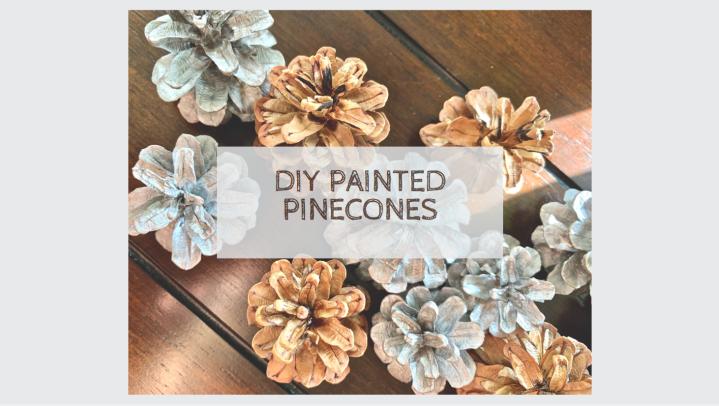 DIY Metallic PaintedPinecones