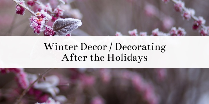 Winter Decor / Decorating After TheHolidays
