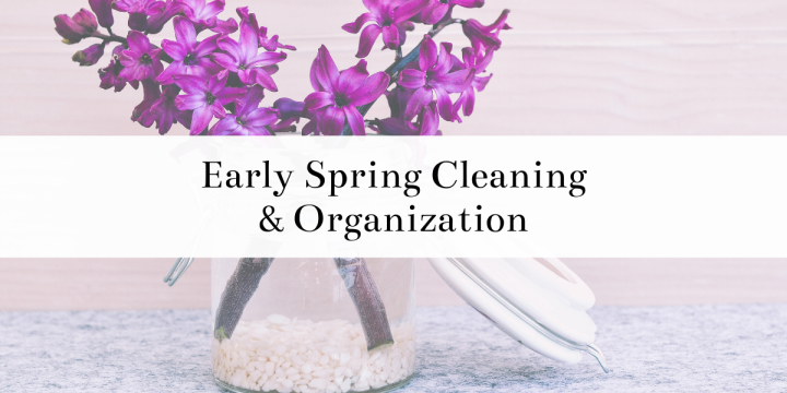 Early spring cleaning around the house is usually an essential for me! I've put together a post with before and after pictures as well as tips I have for cleaning and organizing your home. #organizing #home #homedesign #homeorganization #decluttering #cleaning #beforeandafter