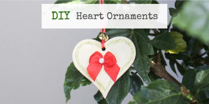 Simple DIY Wooden HeartOrnaments
